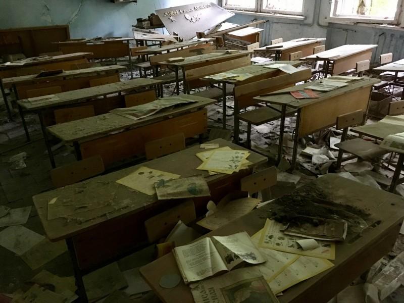 Školní třída v Pripjati