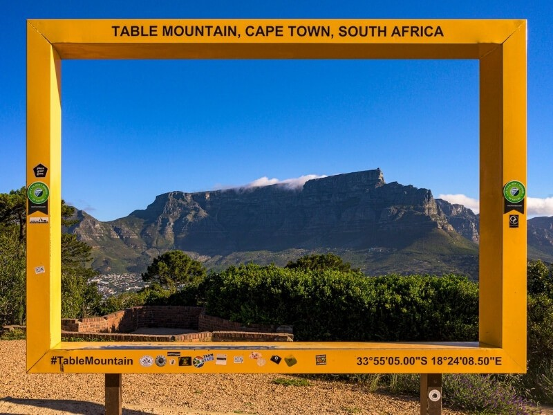 Kapské město - stolová hora
