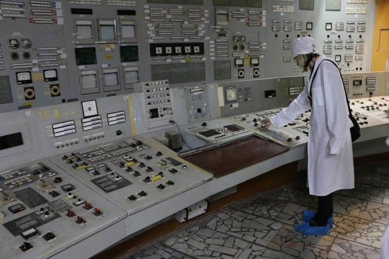 Ovládání kontrolního centra třetího reaktoru v Černobylu