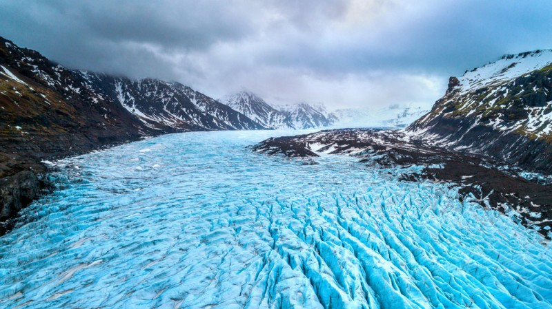 Ledovec Vatnajökull na Islandě