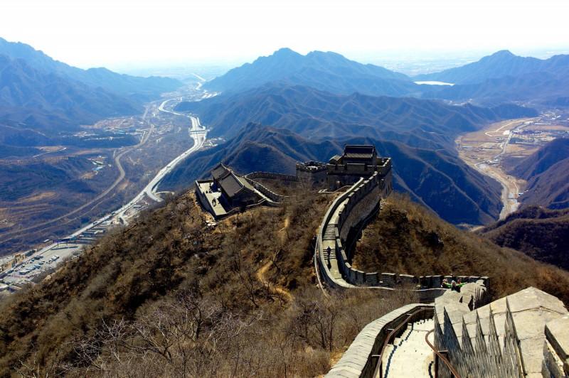Výhled z Velké čínske zdi