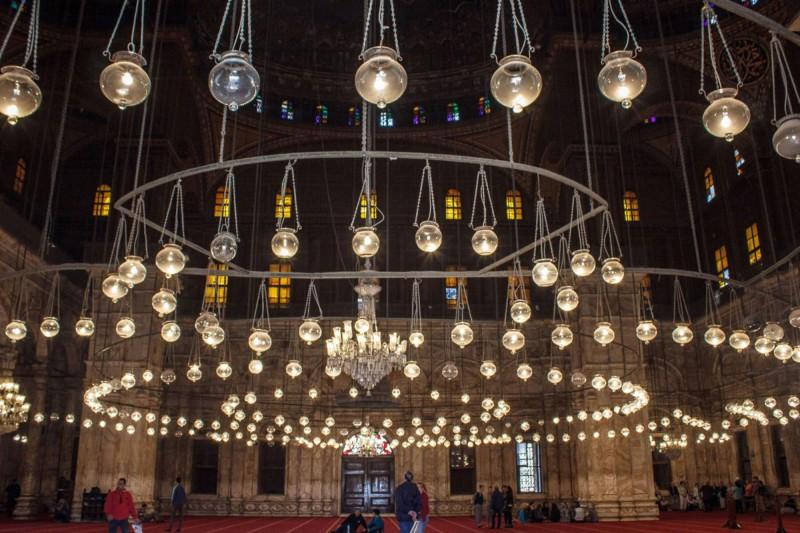 Vnitřek mešity Mohameda Aliho