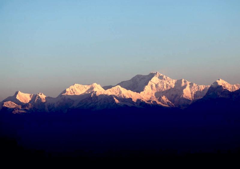 Východ slunce a Kančendženga