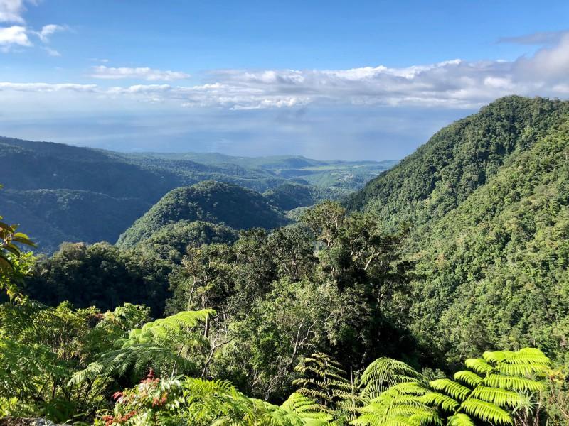 Výhled z hor na Bali