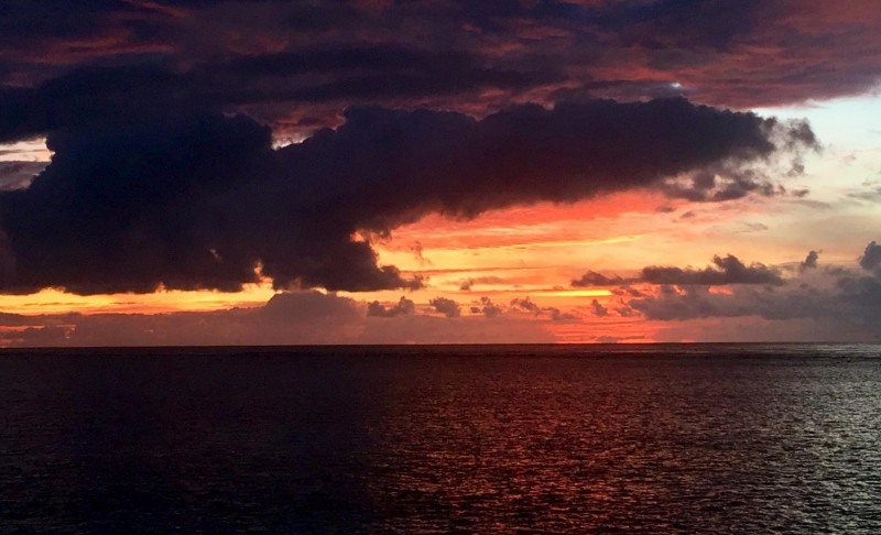 Západ slunce na Maledivách