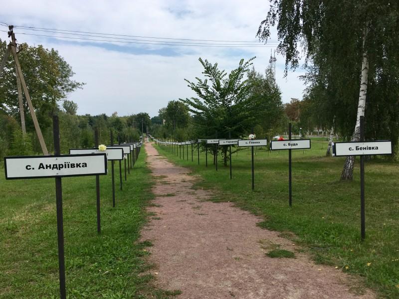 Značky zaniklých míst po katastrofě v Černobylu