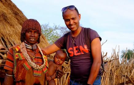 Hamarské ženy připomínají Himby z Namíbie
