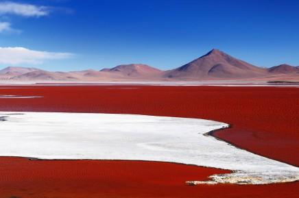 Barevné laguny bolivijského Altiplana