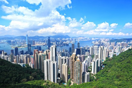 Panorama Hongkongu z Victoria Peak