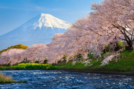 Výhled na Mt. Fuji z jezera Hakone