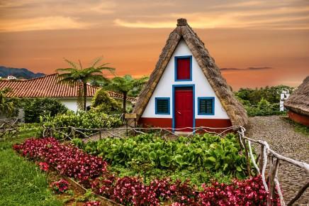 Typické domky na Madeiře vás uchvátí