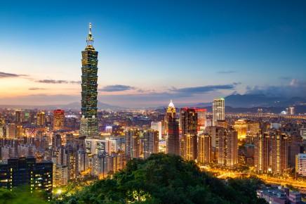 Panorama města Taipei je nejkrásnější v noci