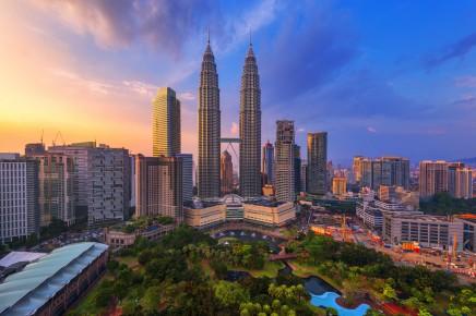 Nejvyšší dvojčata na světě v Kuala Lumpur