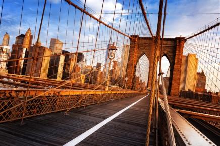 Legendární Brooklyn Bridge v New Yorku
