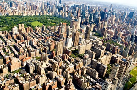 Pohled na Central Park a Horní Manhattan