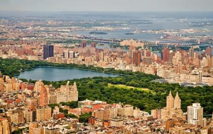 Pohled z ptačí perspektivy na New York