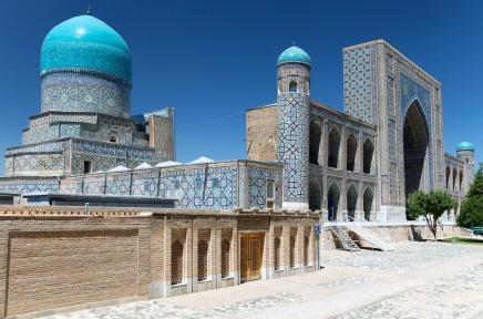 Náměstí Registan v srdci Samarkandu je duší Hedvábné stezky