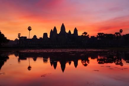 Západ slunce nad Angkor Wat