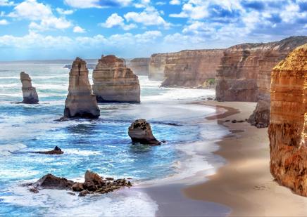 Těšit se můžete na skalnaté pobřeží 12 apoštolů
