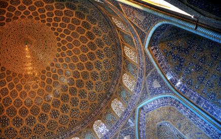 Mešita šejka Lotfolláha v Esfahánu patří k největším perlám Persie