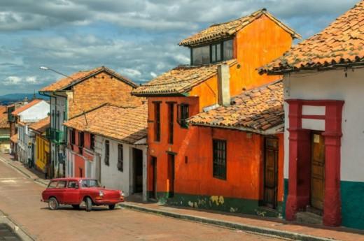 Historická čtvrť La Candelaria v hlavním městě Kolumbie