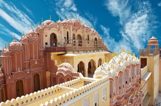 Chrám větru si prohlédneme v Jaipuru