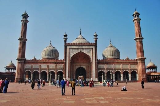 Uvidíme největší a nejkrásnější mešitu celé země - Jama Masjid