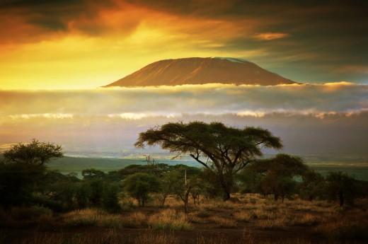 Uhuru - nejvyšší vrchol Kilimandžára