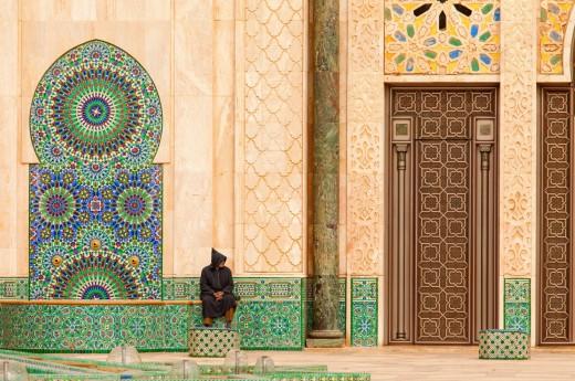 Zdobný detail z Hasanovy mešity, Casablanca