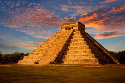Těšit se můžete na pyramidu Chichen Itza při západu slunce