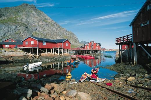 V roce 1905 byl Nusfjord domovem asi 1500 lofotských rybářů