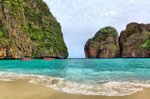 Slavná Maya Beach z filmu Pláž