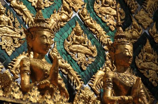 Detail Královského paláce v Bangkoku
