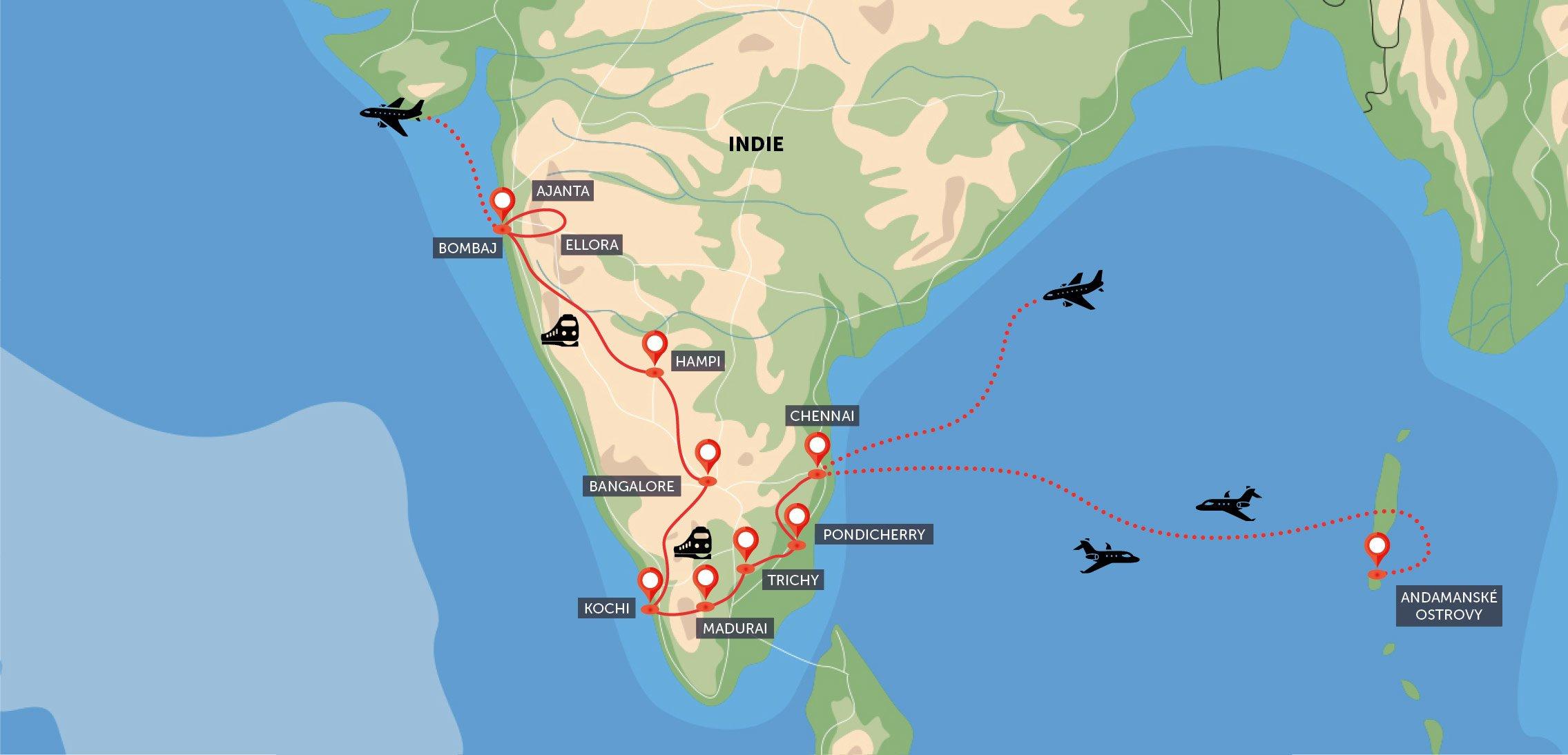Jižní Indie, Hampi, Bombaj