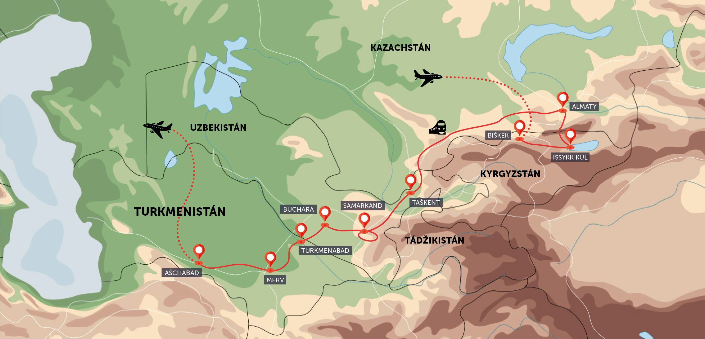 Střední Asie