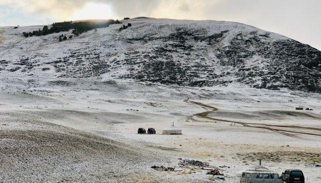 Tábor v mongolském Altaji