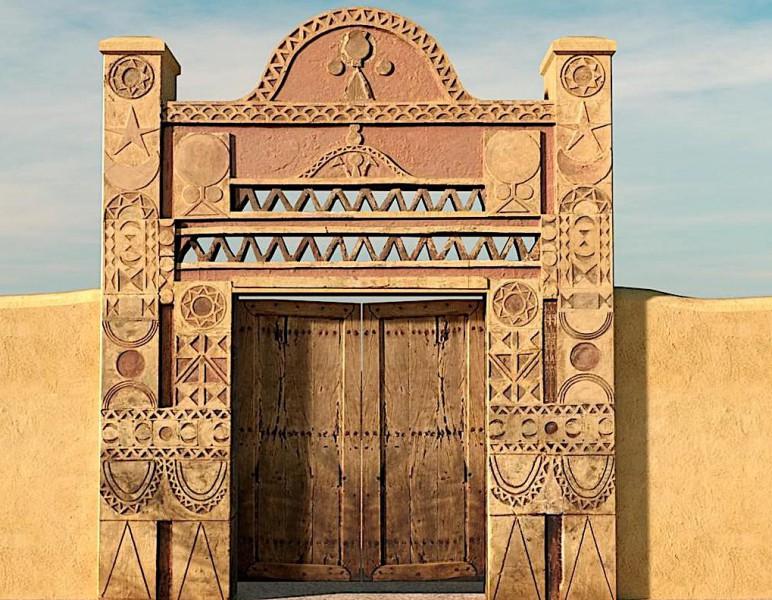 Tradiční núbijský dům