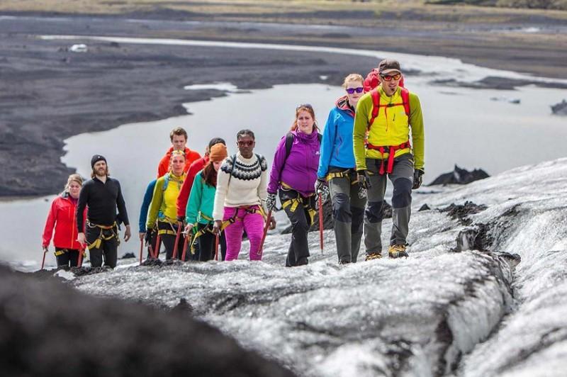 Procházka po islandském ledovci Sólheimajökull