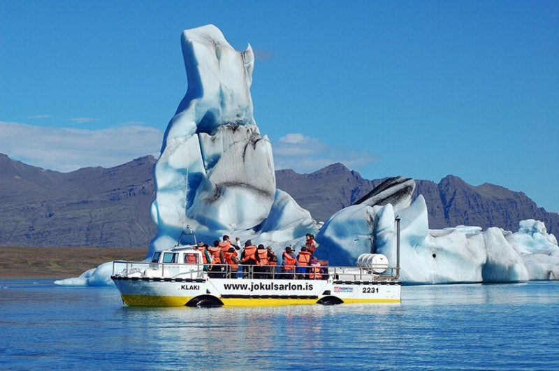 Plavba po ledovci v laguně Jökulsárlón