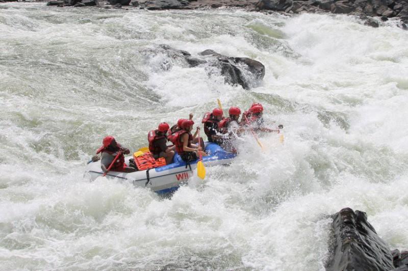 Rafting na řece Zambezi
