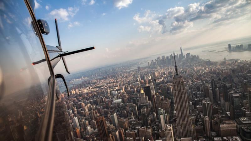 Let helikoptérou okolo Manhattanu