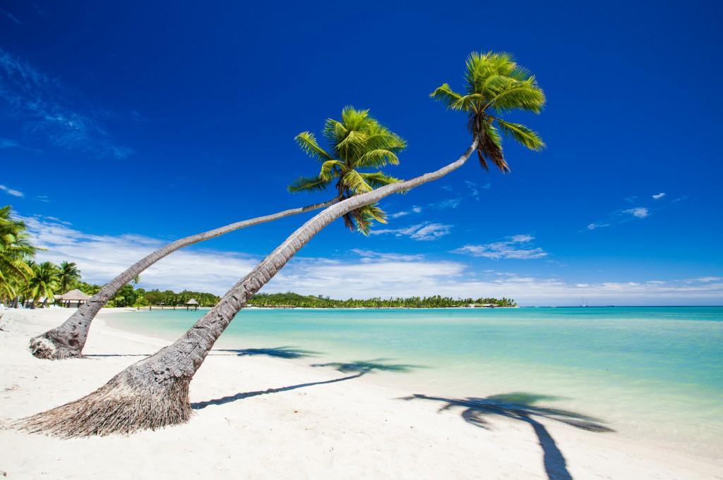 Bělostné pláže na Fiji