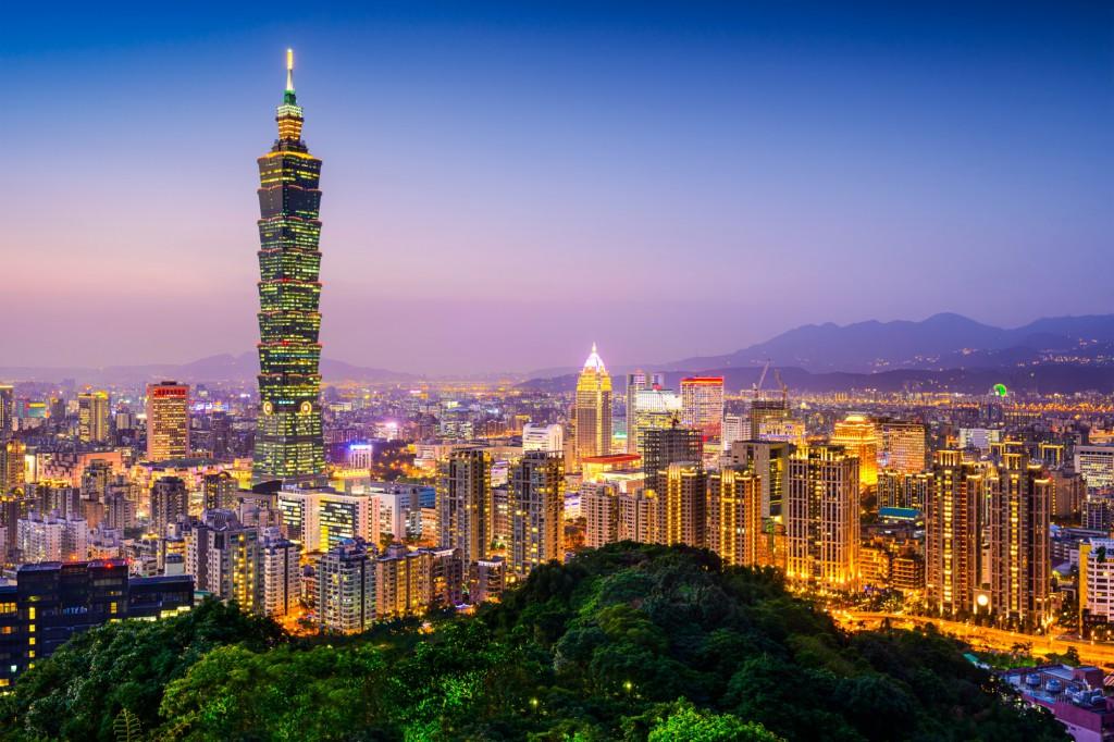 Panorama města Taipei