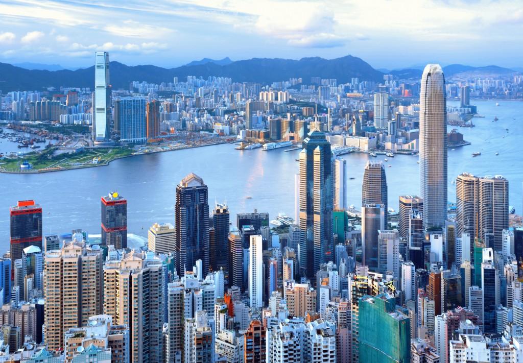 Pohled na Hongkong z Victoria Peat