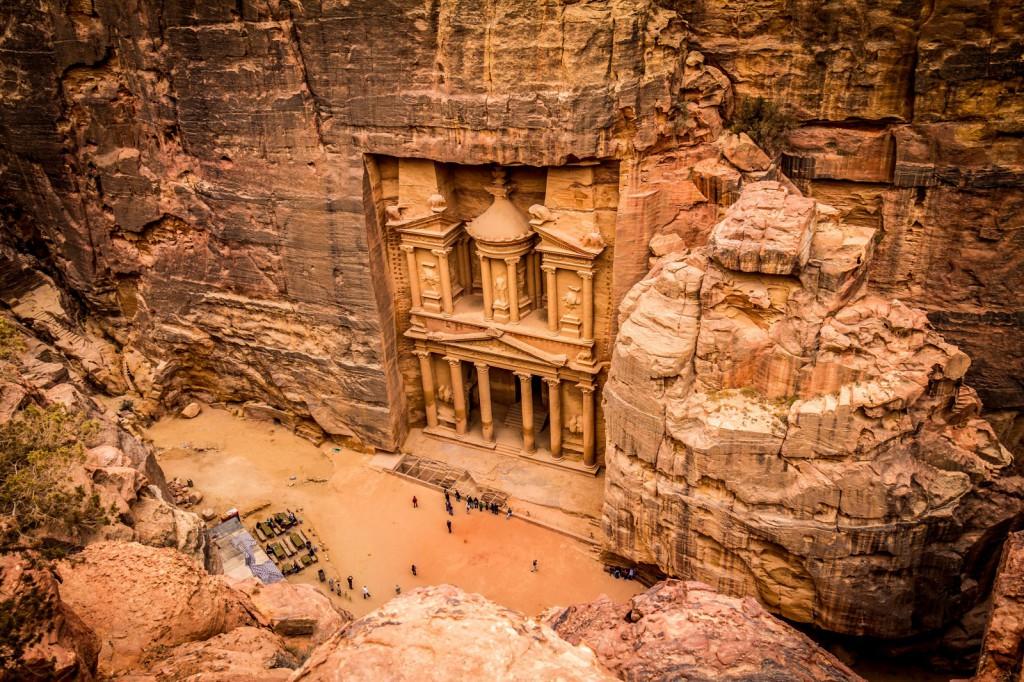Petra se svojí Pokladnicí patří k nejkrásnějším památkám na světě