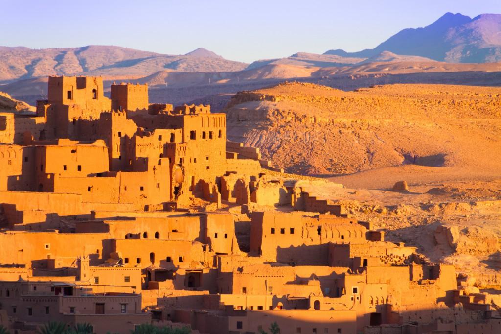 Pevnost ve městě Ouarzazate