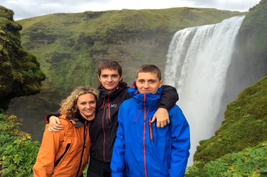 Jeden z nejkrásnějších vodopádů Islandu - Skogafoss