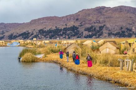 Jezero Titicaca Peru v Jižní Americe