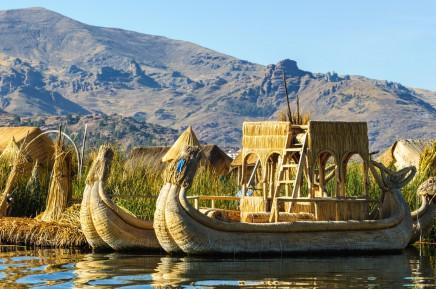 Los Uros, jezero Titicaca, Peru