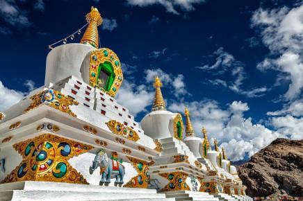 Leh v Ladakhu, Himaláje, Indie